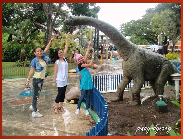 My sisters and I playing with a dino!