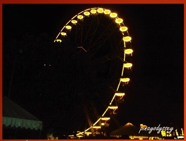 The giant ferris wheel