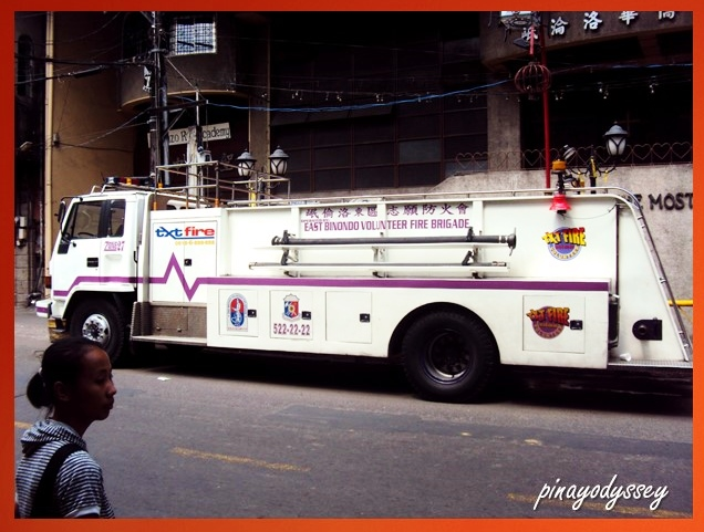 The purple fire truck.