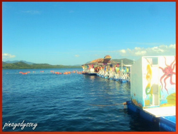 The floating quarter next to the Pambato Reef