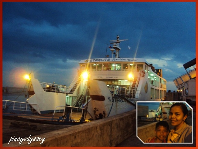 Taking the ferry from Batangas port to Mindoro