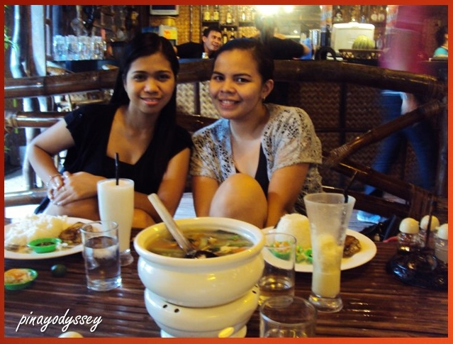 Having lunch at Bilao't Palayok