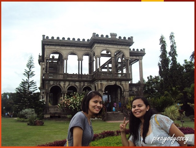 My sister and I in front of the Ruins