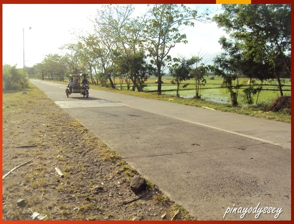 Tricycle on the road