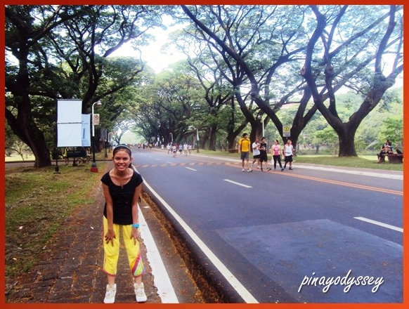 My youngest sister at the Acad Oval