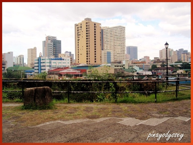 The Fort overlooking Manila across the Pasig River