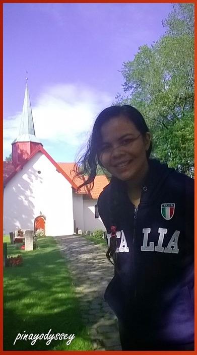 Me in front of Haslum Kirke