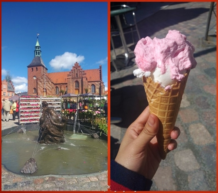 A fountain of mermaids and yummy Danish ice cream fløde