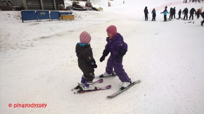 Norwegian children on skis