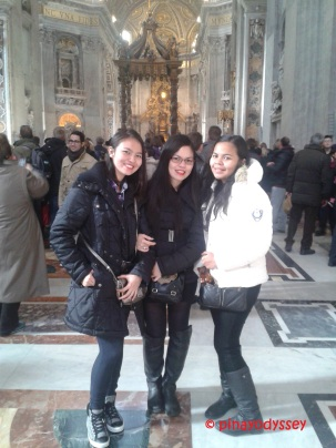 My sisters & I inside the basilica