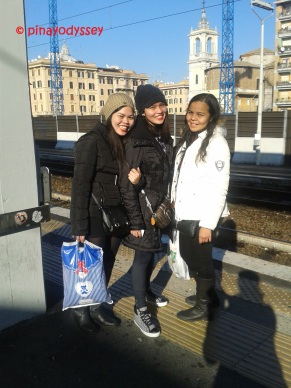 Just me and my sisters at the S. Pietro station