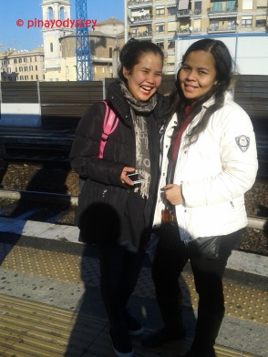 Just me and my aunt at the S. Pietro station