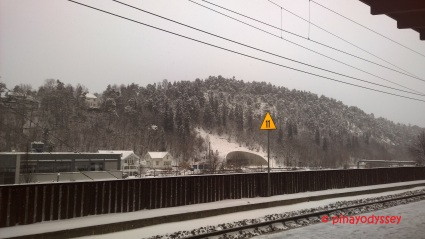 At Sandvika station, while waiting for the train to Drammen