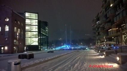 The Ypsilon bridge in winter