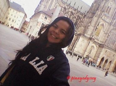 In front of the Cathedral