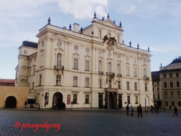 The Archbishop's Palace, originally built in 1538. The Rococo façade was created in 1760.