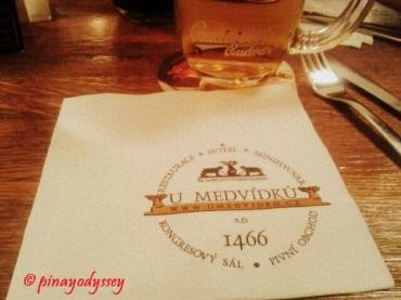 U Medvidku, a unique beer hall pub