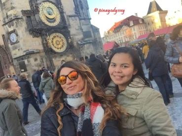 The Astronomical Clock with an Italian friend