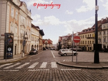 A street leading to the Prague Castle
