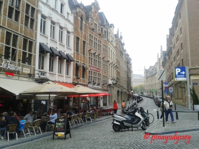 The narrow streets of Brussels