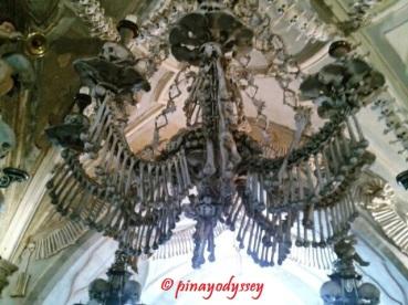 A chandelier of bones