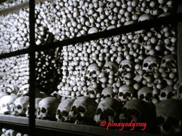 Bones of about 40000 people in the Sedlec Ossuary
