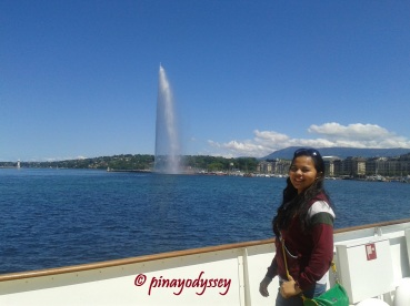 The Jet d' Eau in Lake Geneva