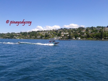 A motorboat in Lake Geneva