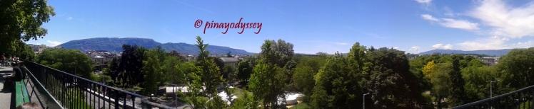 A panoramic view of Geneva