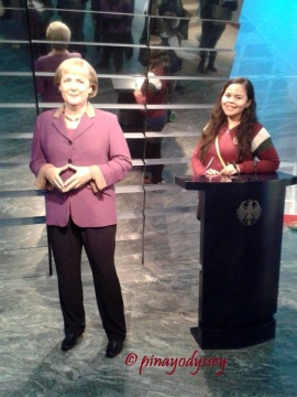 With Angela Merkel
