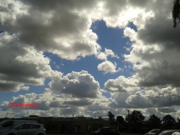 Simba formed by the clouds