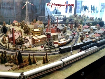 A diorama of a German village