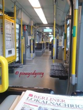 Inside a German city train