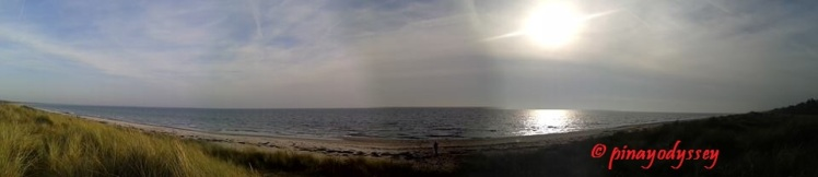 A panorama of the beach