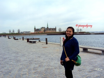 The Kronborg Castle in the background