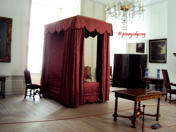 The castle interior, a royal bedroom