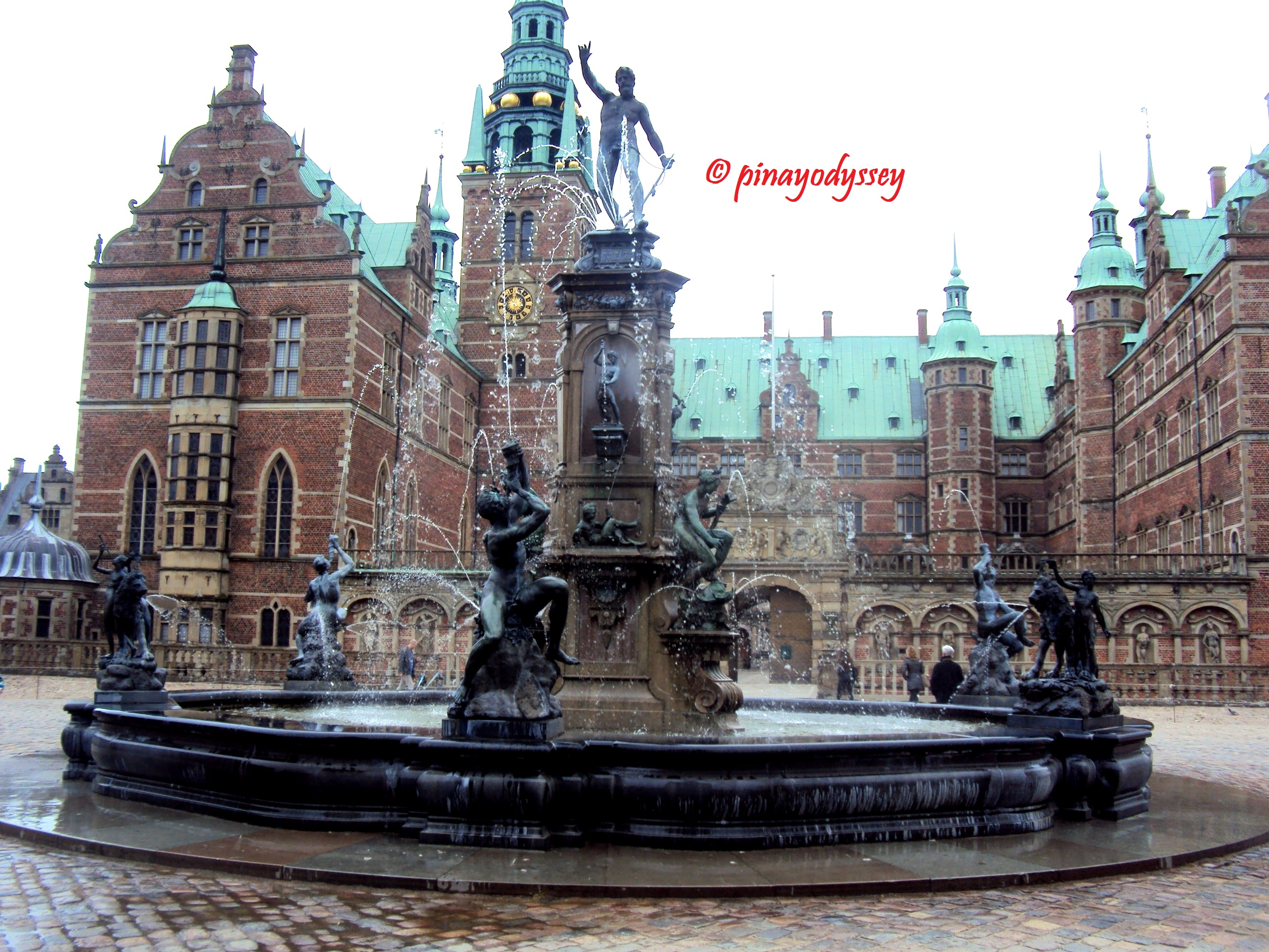 The museum of national history at frederiksborg castle copenhagen - The Neptune Fountain