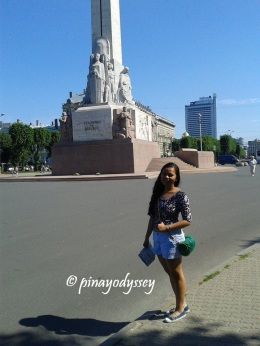 Standing by the Freedom Monument