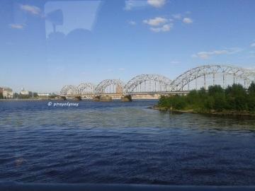 The Railway bridge, the first iron railway bridge in Riga