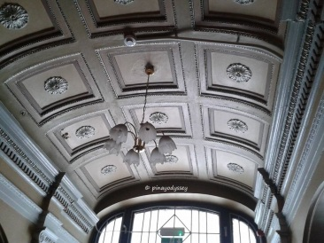 The ceiling on the entrance  hallway, ground floor
