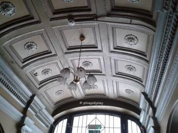 The ceiling on the entrance  hallway, ground floor