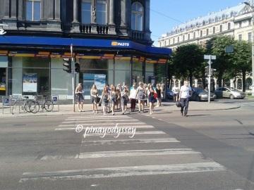A pedestrian in Riga