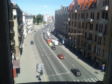 A view of the street outside the KGB building
