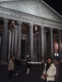 The Pantheon by night