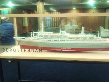A miniature model of SS Rotterdam