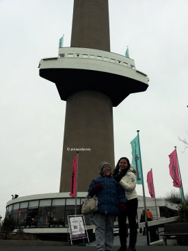 My grandma and I standing by the Euromast
