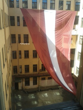 The KGB Headquarter's inner courtyard