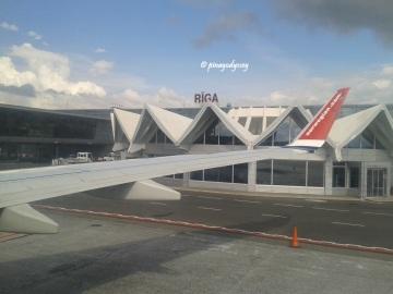 At Riga airport