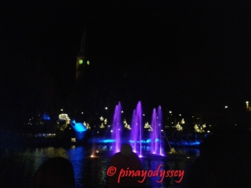 Tivoli in winter, water light show