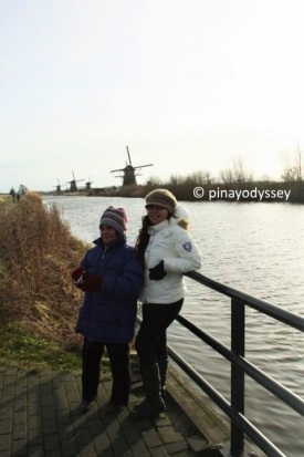 Me and my grandma at Kinderdijk